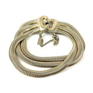 Beautiful Vintage Monet Multistrand Chain Bracelet